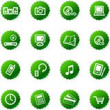 green sticker e-shop icons poster