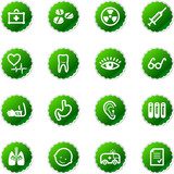 green sticker medicine icons poster