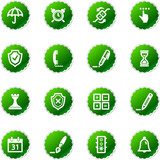 green sticker software icons poster