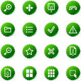 green sticker viewer icons poster