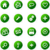green sticker web icons poster