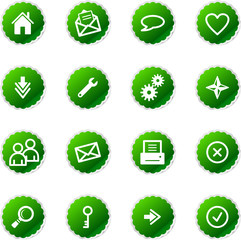 green sticker web icons