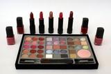 eye, face, and lip make-up/make up. lipsticks. nail polish poster