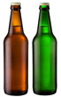 two bottles of beer; object on a white background