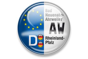 Autokennzeichen: AW, Bad Neuenahr-Ahrweiler, Rheinland-Pfalz