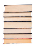 Book heap. Isolated on white. poster