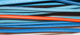 collection of wires for industrial telephone system poster