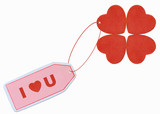 i love you tag with red heart attached poster