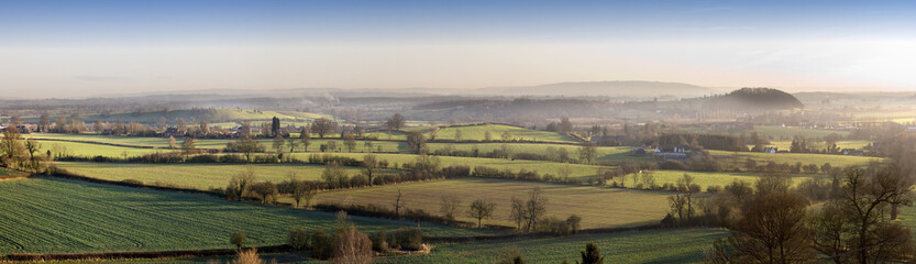 The view from hanbury church worcestershire