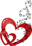 abstract ornamenral valentine heart-shape