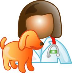 Illustration of a vet icon