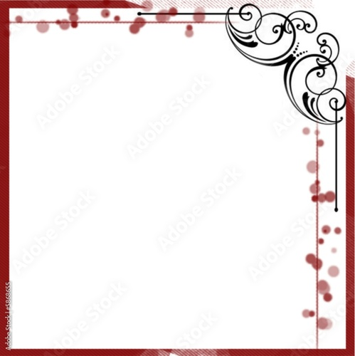 Cadre design rouge noir by juliecat royalty free stock photos 5868655 on fo - Cadre photo rouge design ...