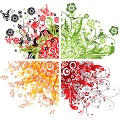 Floral backgrounds, vector illustration