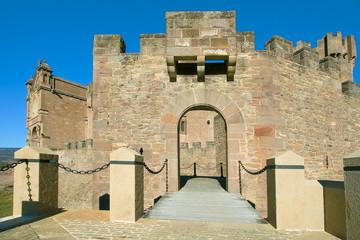 Puente leadizo del castillo de Javier, Navarra