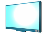 A neatly rendered three dimensional lcd screen tv. poster