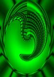 Surreal Green Mask poster