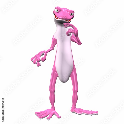 Pink Gecko Thinking