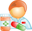 Illustration of a pharmacist icon