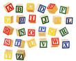 Leinwandbild Motiv Alphabet Blocks