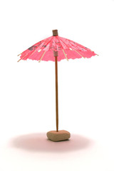single decorative parasol