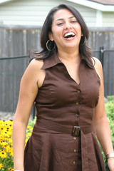 Latin Woman in Laughter