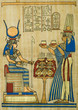 Leinwandbild Motiv Egyptian papyrus with ceremonial ornament