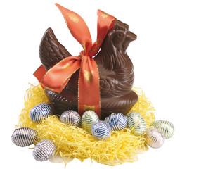 Poule aux oeufs chocolat