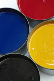 Tubs of process printing inks poster