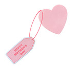 happy mothers day tag attached to heart poster