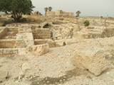 ruins of an ancient Roman palace in Caesarea in Israel poster