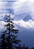 Mont Blanc the highest mountain in france and europe.  poster