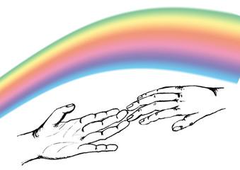mani arcobaleno