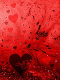 Valentine surreal  card poster