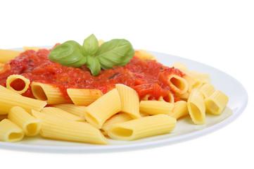 Penne pasta with arrabbiata sauce