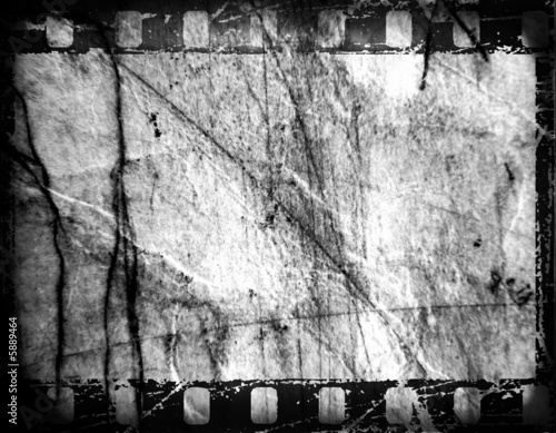 Old film strip, with grunge effects.