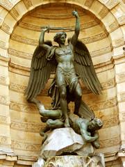 Statue of Saint Miche, closeup- Paris