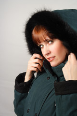 woman with winter coat