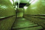 underground way with acid night illumination poster