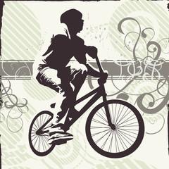 teen on bike