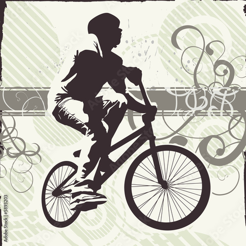 teen on bike