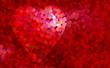 fond rouge et coeur