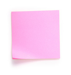 pink note over white