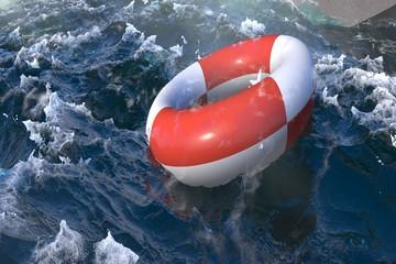 SOS - Rettungsring - Seenot