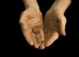 begging hands poster