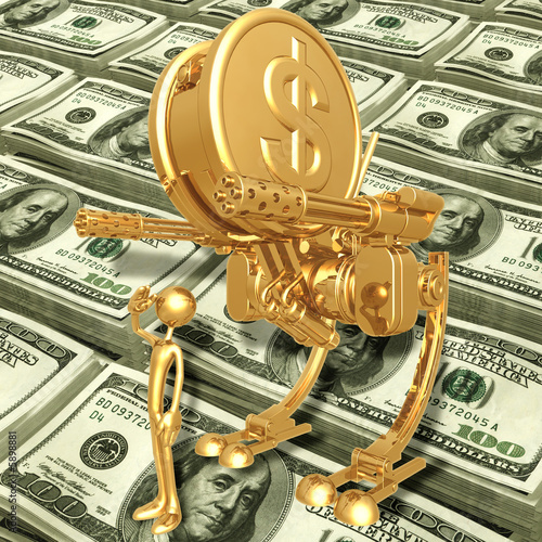 : Gold Dollar Coin War Machine