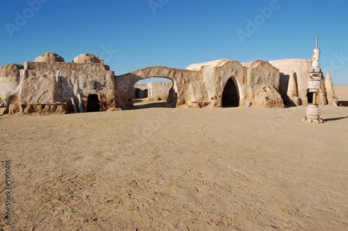 Fotobehang Tunesië décor de star wars