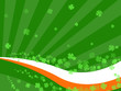 clover irish abstract retro background