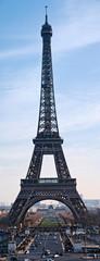 La tour Eiffel depuis le Trocadéro.