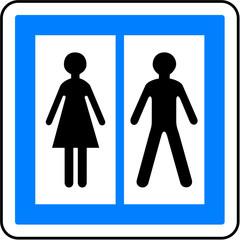 Panneau - Toilettes publiques