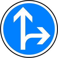 Panneau - directions obligatoire